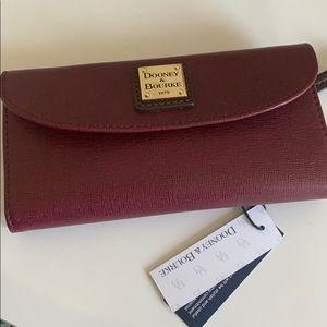Dooney & Bourke Saffiano coated leather Cranberry